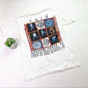 Rush Band Graphic Tee 94 Concert Tour Shirt White